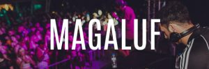 magaluf party holidays banner button dj playing