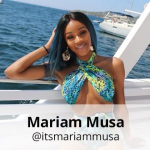 mariam musa pukka up boat party ibiza