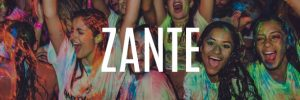 zante party holidays banner button paint party